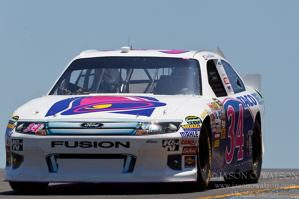 June 24, 2011; Sonoma, CA, USA;  NASCAR Sprint Cup Series driver David Gilliland (34) drives past turn 3 during practice for the Toyota/Save Mart 350 at Infineon Raceway.