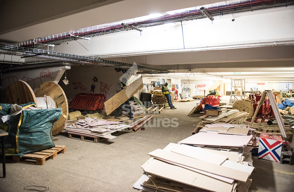 Spaces still under construction at Peckham Levels, a former car park turned into a creative hub.<br /> Picture by Daniel Hambury/Stella Pictures Ltd 07813022858<br /> 10/01/2018