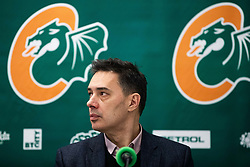 Davor Uzbinec during press conference and introduction of new head coach for KK Cedevita Olimpija  on January 28, 2020 in Arena Stozice, Ljubljana, Slovenia. Photo By Grega Valancic / Sportida