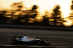 February 20, 2019 - Barcelona, Spain - 44 HAMILTON Lewis (gbr), Mercedes AMG F1 GP W10 Hybrid EQ Power+, action during Formula 1 winter tests from February 18 to 21, 2019 at Barcelona, Spain - Photo  /  Motorsports: FIA Formula One World Championship 2019, Test in Barcelona, (Credit Image: © Hoch Zwei via ZUMA Wire)