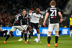 Andre Wisdom of Derby County takes on Ryan Sessegnon of Fulham - Mandatory by-line: Robbie Stephenson/JMP - 11/05/2018 - FOOTBALL - Pride Park Stadium - Derby, England - Derby County v Fulham - Sky Bet Championship