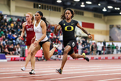 Don Kirby Invitational Indoor Track & Field<br /> Albuquerque, NM, Feb 14, 2020<br /> womens 60m final, Oregon