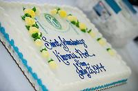 Special dessert in honor of the 70th anniversary celebration for the Kiwanis Pool in St. Johnsbury Vermont.  Karen Bobotas / for Kiwanis International
