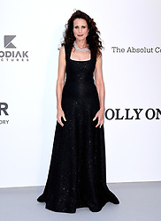 Andie MacDowell attending the 26th amfAR Gala held at Hotel du Cap-Eden-Roc during the 72nd Cannes Film Festival. Picture credit should read: Doug Peters/EMPICS