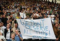 Photo: Steve Bond.<br />Derby County v Leeds United. Coca Cola Championship. 06/05/2007. Leeds fans defient at the final whistle
