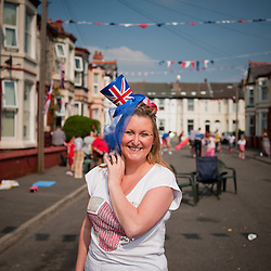 Joanne Cartright. Organiser of the Brisbane Avenue street party in New Brighton, Wallasey.