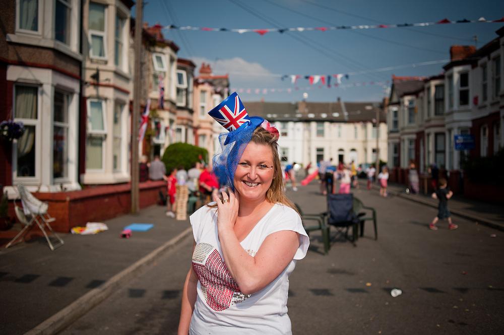 Joanne Cartright. Organiser of the Brisbane Avenue street party in New Brighton, Wallasey.