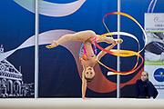 Ana Luiza Filiorianu from Rhytmic Scool team during the Italian Rhythmic Gymnastics Championship in Padova, 25 November 2017.