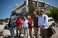 A delegation from the American Red Cross visits project sites in Port-au-Prince, Haiti.
