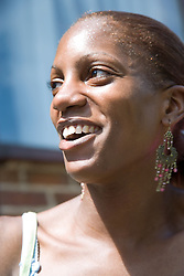 Portrait of Black Woman laughing,