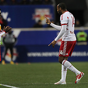 Thierry Henry, New York Red Bulls, reacts as he is substituted by Ambroise Oyongo during the New York Red Bulls V DC United, MLS Cup Playoffs, Eastern Conference Semifinals first leg at Red Bull Arena, Harrison, New Jersey. USA. 2nd November 2014. Photo Tim Clayton