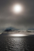 The fogbound, Arctic island of Parryøya, or Parry Island, in the Sjuøyane archipelago, northeastern Svalbard, named after the explorer William Parry, who explored the area in 1827. Parryøya is 1000km from the North Pole, and 1600km north of the Arctic Circle.<br />