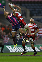 Rugby Union - 2017 European Rugby Challenge Cup Final - Gloucester vs. Stade Francais<br /> <br /> Hugo Bonnevall of Stade Francais and  Ben Morgan of Gloucester scores a try during the match at Murrayfield.<br /> <br /> COLORSPORT/LYNNE CAMERON
