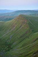 Cribyn viewed from Pen Y Fan, Brecon Beacons national park, Wales