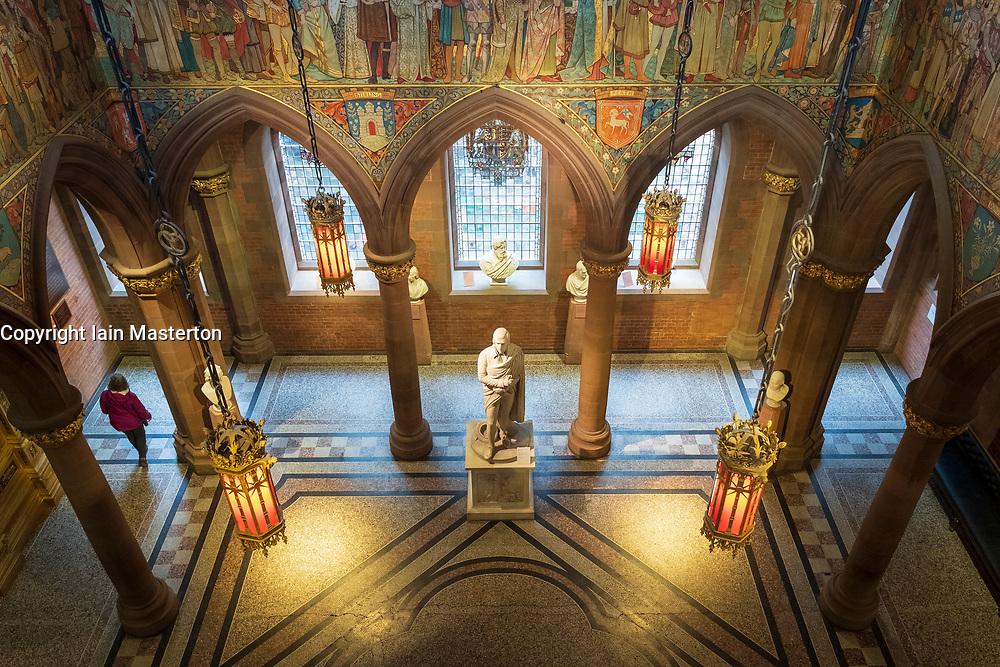 Interior atrium of Scottish National Portrait Gallery art museum in Edinburgh, Scotland, UK