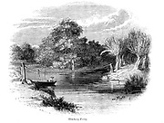 Hincksey [Hinksey] Ferry From the book The wanderings of a pen and pencil by Palmer, F. P. (Francis Paul); Illustrated by Crowquill, Alfred, [Alfred Henry Forrester]  Published in London by Jeremiah How in 1846