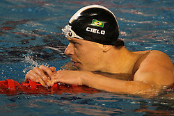 O brasileiro César Cielo durante as eliminatórias da natação nos jogos Pan-Americanos de Guadalarrara 2011. FOTO: JEFFERSON BERNARDES/VIPCOMM