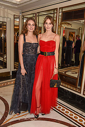Left to right, Lady Violet Manners and Lady Alice Manners at The Cartier Racing Awards 2018 held at The Dorchester, Park Lane, England. 13 November 2018. <br /> <br /> ***For fees please contact us prior to publication***