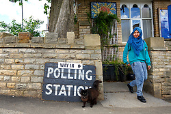 © Licensed to London News Pictures. 07/05/2015. LONDON, UK. People voting in the 2015 General Election at Broomhall Centre Polling Station in Sheffield Hallam Constituency on Thursday, 7 May 2015. Photo credit: Tolga Akmen/LNP