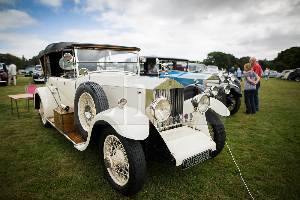 © Licensed to London News Pictures. 07/08/2016. Leeds UK. Picture shows a white Rolls Royce 2025 at the 37th Rolls Royce North rally that has taken place this weekend in the ground's of Harewood House in Yorkshire. The event bring's together some of the UK's most prized motor cars & their proud owners. Photo credit: Andrew McCaren/LNP