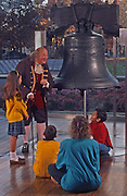 Liberty Bell, Ben Franklin, School Children, Independence National Historic Park, Philadelphia