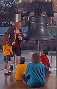 Liberty Bell, Ben Franklin, School Children, Independence National Historic Park, Philadelphia