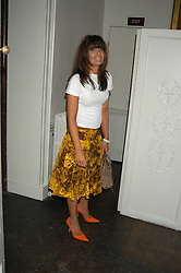 CLAUDIA WINKLEMAN at the Tatler Summer Party in association with Moschino at Home House, 20 Portman Square, London W1 on 29th June 2005.<br /><br />NON EXCLUSIVE - WORLD RIGHTS