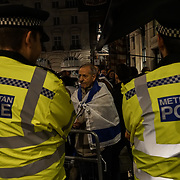 London, UK. 2nd November 2017. Pro-Palestinian counter by Pro-Israelis to mark the centenary of the tragic Balfour Declaration, Theresa May will hold a dinner party at which Netanyahu is due to attend at Lancaster House.