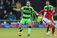 Forest Green Rovers Farrend Rawson(6) on the ball during the EFL Sky Bet League 2 match between Forest Green Rovers and Crewe Alexandra at the New Lawn, Forest Green, United Kingdom on 22 December 2018.