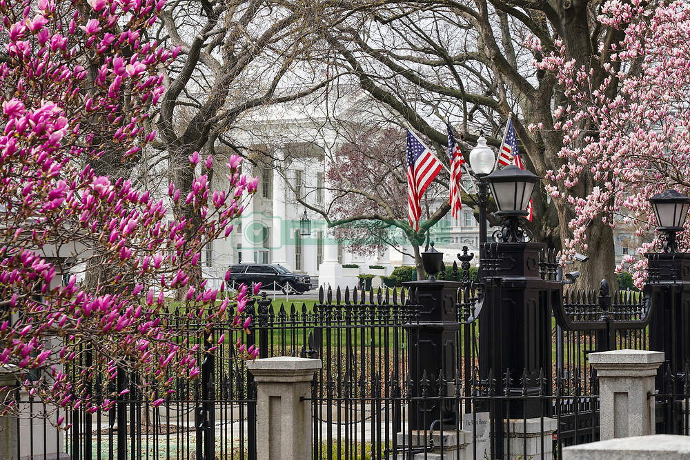 A general view of the White House in Washington DC in the United States. From a series of travel photos in the United States. Photo date: Thursday, March 29, 2018. Photo credit should read: Richard Gray/EMPICS