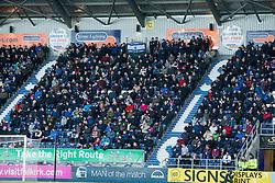 South stand. Falkirk 1 v 1 Ayr United, Scottish Championship game played 14/1/2017at The Falkirk Stadium .