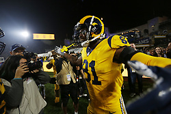 November 19, 2018 - Los Angeled, CALIFORNIA, USA - Los Angeles Rams Gerald Everett celebrates a game-winning touchdown  against the Kansas City Chiefs in the 4th quarter at the Los Angeles Memorial Coliseum on Monday, Nov. 19, 2018. (Credit Image: © KC Alfred/ZUMA Wire)