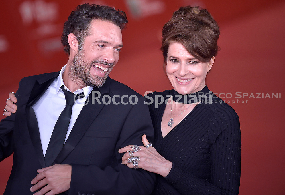 """ROME, ITALY - OCTOBER 20: Fanny Ardant, Nicolas Bedos attends the """"La Belle Epoque"""" red carpet during the 14th Rome Film Festival on October 20, 2019 in Rome, Italy."""