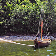 "Medieval Russian boat in National Park ""Samarskaya Luka"""