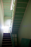 Mansion service stairway in Gibara, Holguin, Cuba.