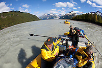 "White water raft trip down the Tashenshini River. The ""Tat"" flows out of Yukon, CA, through British Columbia and empties into Glacier Bay National Park in Alaska, US."