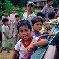 South America, Peru, Amazon. Amazon boys