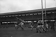 01/09/1968<br /> 09/01/1968<br /> 1 September 1968<br /> All-Ireland Senior Hurling Final: Tipperary v Wexford at Croke Park, Dublin. <br /> The Wexford goal under heavy attack.