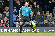 Assistant Referee George Byrne during the EFL Sky Bet League 1 match between Southend United and Luton Town at Roots Hall, Southend, England on 26 January 2019.