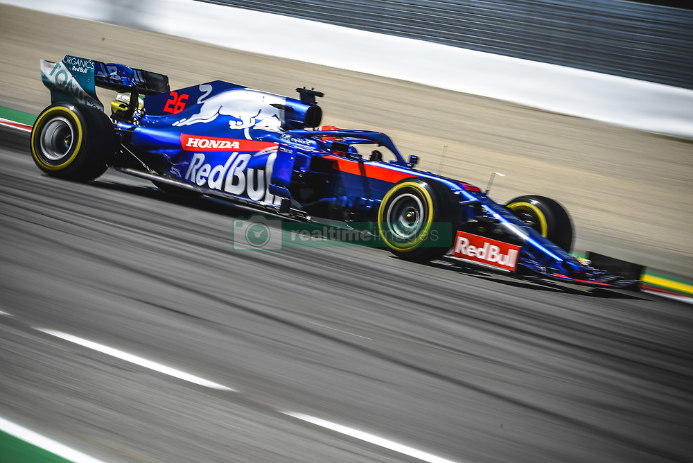 May 12, 2019 - Barcelona, Catalonia, Spain - DANIIL KVYAT (RUS) from team Toro Rosso drives in his STR14 during the Spanish GP at Circuit de Catalunya (Credit Image: © Matthias Oesterle/ZUMA Wire)