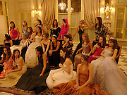 Crillon Debutante Ball. Getting ready. Crillon Hotel. Paris. 26 November 2004. ONE TIME USE ONLY - DO NOT ARCHIVE  © Copyright Photograph by Dafydd Jones 66 Stockwell Park Rd. London SW9 0DA Tel 020 7733 0108 www.dafjones.com