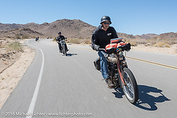 Dave Volnek of Nebraska riding his 1913 Indian during the Motorcycle Cannonball Race of the Century. Stage-14 ride from Lake Havasu CIty, AZ to Palm Desert, CA. USA. Saturday September 24, 2016. Photography ©2016 Michael Lichter.