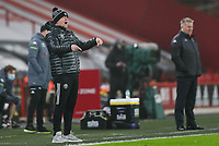Sheffield United manager Chris Wilder shouts instructions to his team from the technical area<br /> <br /> Photographer Alex Dodd/CameraSport<br /> <br /> The Premier League - Sheffield United v Aston Villa - Wednesday 3rd March 2021 - Bramall Lane - Sheffield<br /> <br /> World Copyright © 2021 CameraSport. All rights reserved. 43 Linden Ave. Countesthorpe. Leicester. England. LE8 5PG - Tel: +44 (0) 116 277 4147 - admin@camerasport.com - www.camerasport.com