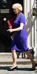 London, June 20th 2017. Leader of the House of Commons Andrea Leadsom leaves the weekly cabinet meeting at 10 Downing Street in London.