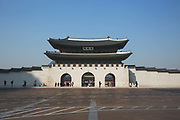 The Gyeongbokgung Palace on 26th February 2018 in Seoul, South Korea. Gyeongbokgung, also known as Gyeongbokgung Palace or Gyeongbok Palace, was the main royal palace of the Joseon dynasty. Built in 1395, it is located in northern Seoul.