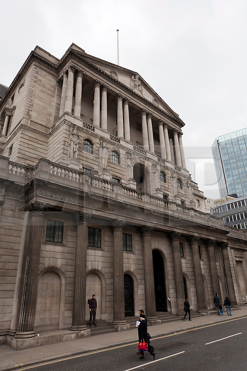 © Licensed to London News Pictures. 03/04/2013. London, UK. On the day it launches a survey on credit conditions within the United Kingdom (03/04/2013), the Bank of England is seen in the City of London. Photo credit: Matt Cetti-Roberts/LNP