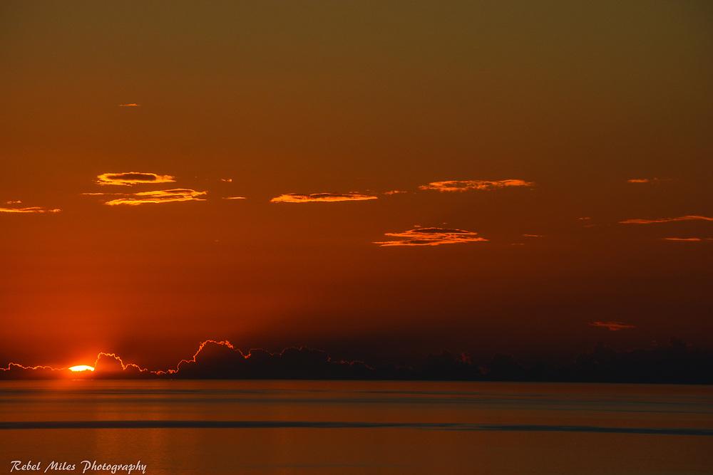 The Sun's Last Gasp Over Lake Michigan