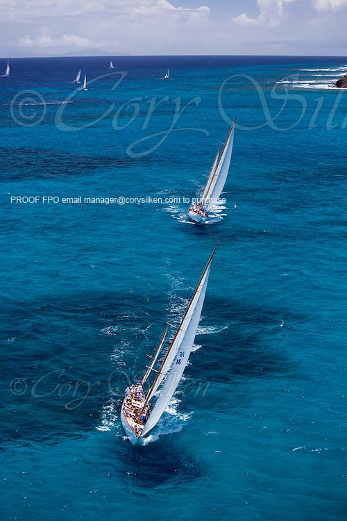 Dorade sailing in the Antigua Classic Yacht Regatta, Butterfly Race.