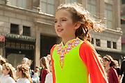 A young girl from an Irish dance school.