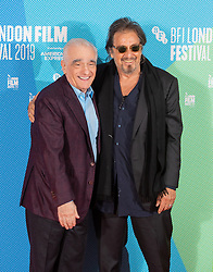 Director Martin Scorsese (left) with Al Pacino during a photocall for The Irishman as part of the BFI London Film Festival 2019 held at The May Fair Hotel , London.